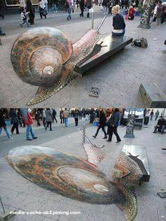 Street art ilusão de ótica