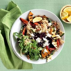Grilled vegetable and almond quinoa salad | Australian Healthy Food Guide
