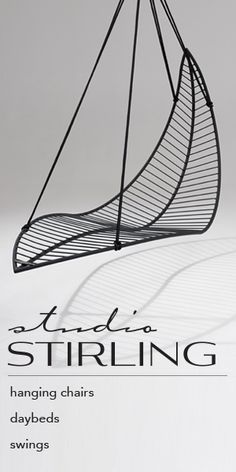 Basket Circle hanging swing chair - Garden chairs by Studio Stirling
