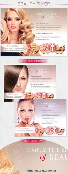 A4 Beauty Salon Flyer Salons, Flyer template and Flyer printing - hair salon flyer template