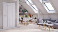 Skandinavischer Einrichtungsstil in hellen Farben
