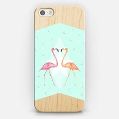 FLAMINGO PARTY on WOOD iphone case iPhone 5s case by Monika Strigel | Casetify