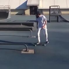 Any of you ever seen a kickflip front board shuv to fakie coffin g-turn?  You have now.