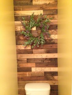 Our Pinterest inspired pallet wall
