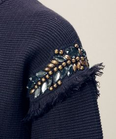 Bead embellished sleeve detail; sewing; embroidery; beading; textiles; fashion design details // Torrazzo Donna