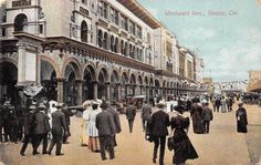 VENICE CA Windward Avenue Street Scene California Vintage Postcard 1908