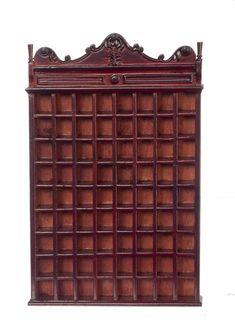 Victorian Barber Shop Shaving Mug Cabinet - Mahogany Marys ...