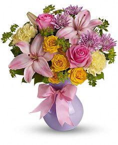 Teleflora's Perfectly Pastel Flowers, Teleflora's Perfectly Pastel Flower Bouquet - Teleflora.com