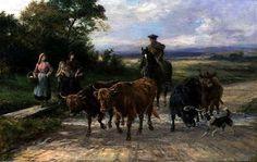 """""""The Handsome Drover"""" (1904) von Heywood Hardy (geboren am 25. November 1842 in Chichester, gestorben im Jahr 1933 in West Sussex), englischer Maler und Grafiker des Spätimpressionismus."""