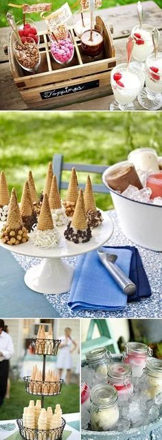 Ice Cream Bar! Nat we could so do this for the bachelorette party