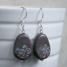 gray teardrop swirls by Arjuna Jewelry, via Flickr