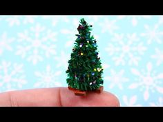 Creating Dollhouse Miniatures: Miniature Tiny Christmas Tree Tutorial