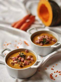 ESSENZA IN CUCINA: Vellutata di zucca, lenticchie e carote