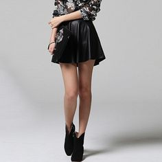 Sarah - Flared Leather Skirt $69.00 http://www.shop.secretenvy.com/Sarah-Flared-Leather-Skirt-20133938.htm