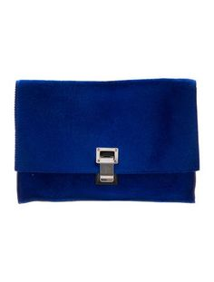 06ca0ec110ce Blue ponyhair Proenza Schouler Lunch clutch with silver-tone hardware