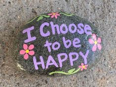Easy Paint Rock For Try at Home (Stone Art & Rock Painting Ideas) Pebble Painting, Pebble Art, Stone Painting, Diy Painting, Shell Painting, Painting Quotes, Happy Rock, Rock Painting Ideas Easy, Rock Painting Designs