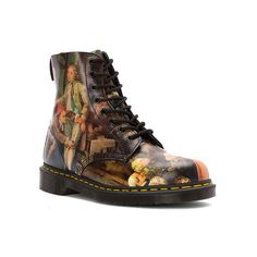 Dr. Martens 1460 8 ($150) ❤ liked on Polyvore featuring shoes, boots, renaissance, women, dr. martens, lacy boots, renaissance boots, dr martens footwear and dr martens shoes