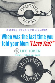 Create a bracelet with what matters to you the MOST  Pick your favorite colors  customize your message and wear your feelings! SHOP NOW  When was the last time you told your mom you loved her? Great gifts for moms. Custom handmade bracelets & accessories! Design your own memory.