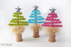 Craft Stick Christmas Trees--full tutorial