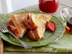 Get Paula Deen's Strawberry-Cream Cheese Stuffed French Toast Recipe from Food Network