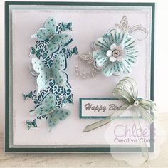 Chloes Creative Cards Craft, Cardmaking and Papercraft Supplies Chloes Creative Cards, Stamps By Chloe, Craftwork Cards, Flower Stamp, Create And Craft, Butterfly Cards, Pretty Cards, Birthday Cards, Happy Birthday