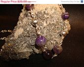 On Sale SALE Amethyst Silver Necklace