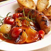 Recept : Buřty na pivu   ReceptyOnLine.cz - kuchařka, recepty a inspirace Pork Recipes, Deli, Baked Potato, Sausage, Chicken, Dinner, Cooking, Health, Ethnic Recipes