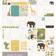 Zoo Themed Cards - Becky Higgins Project Life