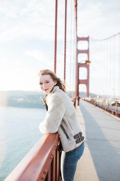 Golden Gate Bridge + shearling coat = San Fran style magic | Kylen Every Wear