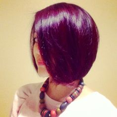 Red-violet hair #haircolor #hairstyle