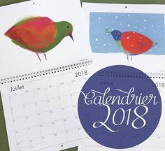 Calendrier des oiseaux 2018  12 superbes illustrations de Illustrations, Diagram, Chart, Etsy, Calendar, Impressionism, Handmade Gifts, Drawing Drawing, Illustration