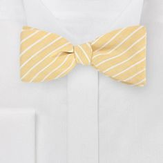 Yellow Stripe Bow Tie from Bows N' Ties
