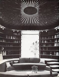 Paul Rudolph, Edersheim Apartment. 1970 conversation pit and library