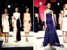 En fotos: Angel Sánchez y Carolina Herrera iluminaron la pasarela del Fashion Week New York    #black #bracelet #embroidery #blue #dress
