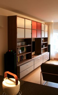 Walnut, aluminium and HPL combined. Cupboard, Divider, Room, Furniture, Home Decor, Clothes Stand, Bedroom, Armoire, Decoration Home