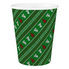 Ugly Christmas Sweater Paper Cup - Xmas ChristmasEve Christmas Eve Christmas merry xmas family kids gifts holidays Santa