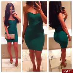 Bandage Dress ❤Sims the waist and accentuates the curves