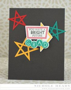 Bright Future Card by Nichole Heady for Papertrey Ink (March 2015)