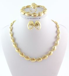 Fashion necklace set african costume jewelry set gold plated bridal