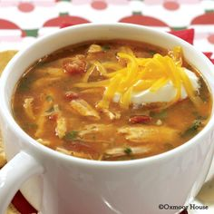 Gooseberry Patch Recipes: Chicken-Corn Tortilla Soup. So easy to prepare - dinner is ready in no time!