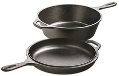 The Lodge Cast Iron 3-Qt Combo cooker is a multi-functional cookware that works wonders with slow-cooking recipes and all your favorite foods. It's a deep skillet, a fryer, a Dutch oven and the lid converts into a shallow skillet or griddle. This versatile piece of cast-iron cookware allows the preparation of almost any recipe. Cast iron loves a campfire, a stovetop, or an oven, and can slow-cook foods without scorching. It retains heat well so you can sear meat at higher temperatures and…