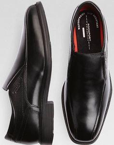 Rockport Future Black Slip-On Dress Shoes - Men's Shoes Black Shoes, Men's Shoes, Men Warehouse, Rockport Shoes, Slip On Dress Shoes, Professional Attire, Cosplay Ideas, Men's Fashion, Alternative