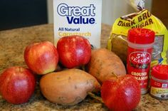 Sweet Potatoes and Apples in the Slow Cooker - Eat at Home #SlowCookerThanksgiving