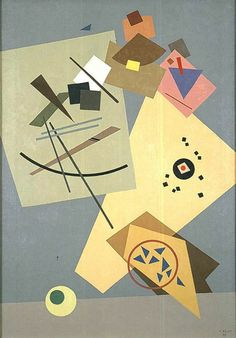 Paul Kelpe (German-American, 1902-1985)   - Untitled (Geometric Abstraction)