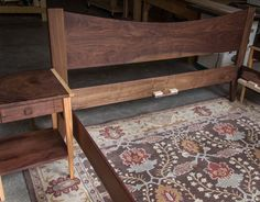 Simple King or California King Size Platform Bed Frame by MountainMuleHardwood