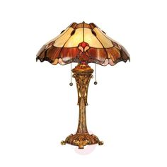 The Tiffany style table lamp Cambria presents itself with an elegant and stylish appearance.
