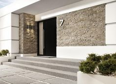 Incana montana magma facade clinker corner facing … – # … - All About Balcony Home Building Design, Home Design Plans, Building A House, House Front Door, House Entrance, Modern Exterior, Exterior Design, Montana, Stone Houses