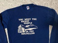 Vintage Men's Russell Athletic Mountains Sweatshirt by GentlyUsedGoods