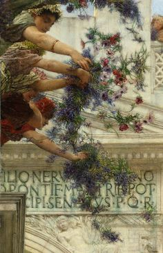 "Lawrence Alma-Tadema ""Spring"" (detail) 1894"