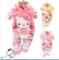hello kitty newborn baby clothes | 2013 hot sell big discount new Velvet baby sport clothing set / hello ...